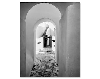 Black And White Greek Photography, Greek Islands, Art Photography, Greece, Agean Sea, Mykonos, White Fine Art Photography