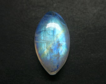 Rainbow Moonstone Marquise Designer Cabochon,Size16x9x5 MM,Blue Flash Moonstone,Loose Gemstone,Smooth Cabochons.