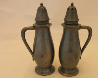 Salem Pewter Salt & Pepper Shakers #996