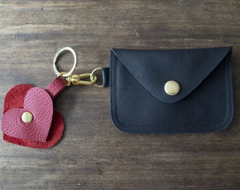 Coin 02, Coin purse, Leather Keychain Wallet, Leather Credit Card Wallet, ID Holder, Business Card Holder, Metro Card pouch, Key Zip Pouch,