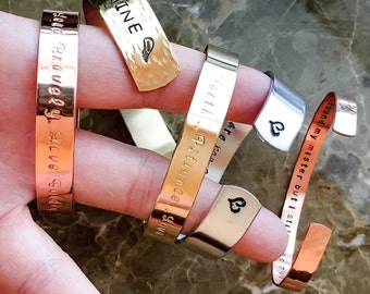 Personalized Cuff Bracelet, Custom Hand Stamped Bracelet - Hand Stamped Bracelet - Custom Bracelet Cuff, Your Quote, Mantra, sister, wedding