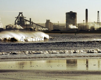 River Tees Redcar Printable Photograph Instant Download 12mp image #4