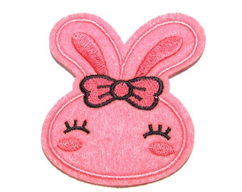 Rabbit Bunny Embroidered Patch Appliqué