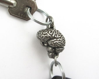 Human Brain Valet Keychain - 2-Part Brain Anatomy, Neurology Keychain