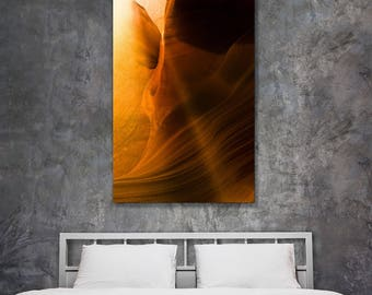 Fine art landscape photography - Antelope Canyon Light Breaks the Silence - original home decor wall art