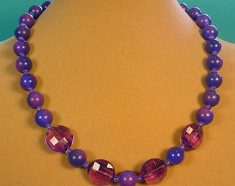 """The Perfect 18"""" PURPLE Necklace! - N367"""
