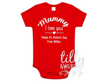 Personalised Mummy I Love You Happy First Mother's Day