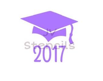 Graduation Cap and Year 2017