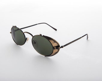 Steampunk Goggle Sunglasses with Side Shields Vintage - Orson