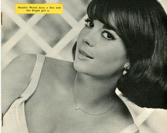 Cancans Magazine  1965 French Natalie Wood Cover and with Tony Curtis   Plus numerous Burlesque and Stripper performers and stars  mature