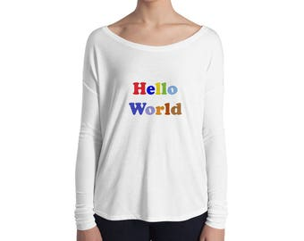 CSP Hello World Ladies' Long Sleeve Tee