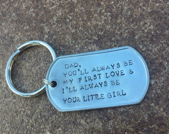 Personalized Dog Tag Keychain