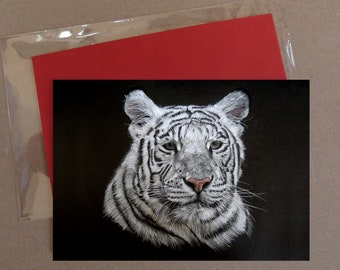 "White Tiger (1) card 5 x 7"" with envelope"