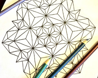 Let Your Individuality Sparkle - Snowflake Mandala Coloring Page - Instant Download PDF