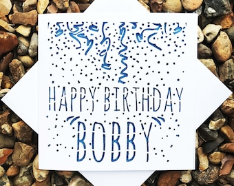 Personalised, Happy Birthday Card, For Him, For Her, Birthday Card, Birthday Gift, Laser Cut, Greeting Cards