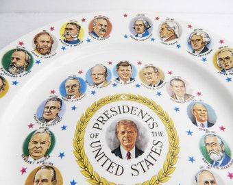 Vintage American Presidents Commemorative Plate - Jimmy Carter Era - USA Political Memorabilia - Souvenir Wall Hanging Plate