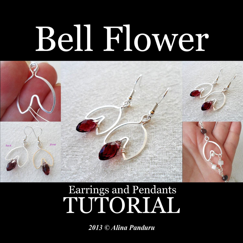 Jewelry TUTORIAL - Bell Flower Earrings - Intermediate Level Wire ...