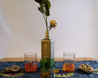 Orange/Clear Handmade Up-cycled Vase/Holder