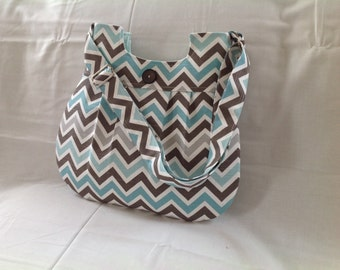 Turquoise, grey, brown, chevron purse, purse, chevron bag, chevron, cross body, travel bag