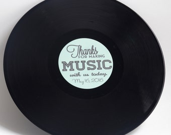 "Custom 12"" Vinyl Record Wedding Guestbook 