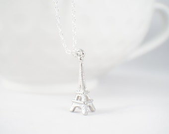 Eiffel Tower necklace - eiffel jewelry - eiffel necklace - GIft for her!