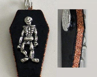 Skeleton pendant or charm - Reduced price