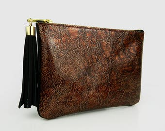 Clutch Leather, evening bag, leather purse