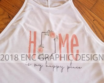 Home is My Happy Place Halter Tank
