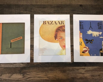 "I'm so ""bazaarly"" well traveled, 3 prints"
