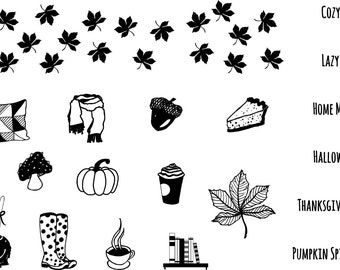It's Fall! - Clear Stamps Set A7