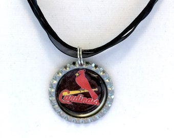 St Louis CARDINALS Baseball Handcrafted Necklace