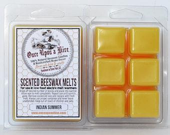 Indian Summer Beeswax Melts | 3 oz. | Natural | Melt-Warmers | Wax Melts | Scented