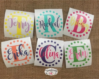 Monogram Decal | Personalized Decal | Name Decal | Car Decal | Vinyl Decal | YETI Decal | Laptop Decal
