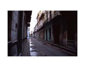 After The Rain, Old Havana, Cuba, Signed Art Print / Cuban Street Photography / Architecture Photo