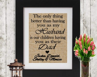 Personalized Gift for Father's Day - The only thing better than having you as my husband - Gift for Him - Father's Day Gift - Dad Gift