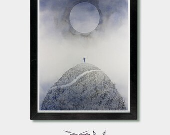 Inspirational. Summon and Seek. Yoga Decor, Alan Watts, Mountain Art, Spiritual, Yoga Wall Art, Yoga Art, Inspirational Svg, Boho, Wall Art