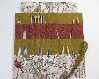 Knitting Needle Case, Bird Knitting Needle Organizer, Circular Knitting Needle Case