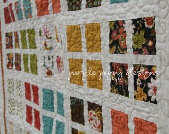 custom wee window throw quilt (48x60 in.)