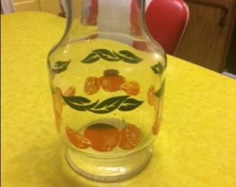 Vintage 1987 Anchor Hocking Orange Juice Glass Pitcher