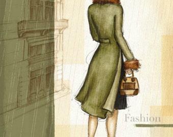 Rain New York - Cross stitch pattern pdf format