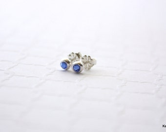 Birthstone Earrings, Crystal Birthstone Earrings, Tiny Silver Studs