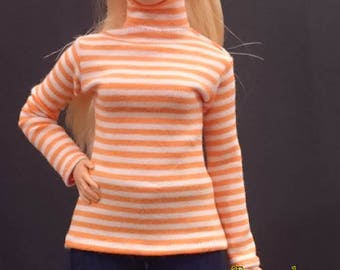 Dolls top for CURVY barbie No.180115-22