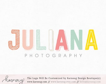 Party Logo Rainbow Logo Candy Logo Kids Logo Premade Logo Watermark Logo Business Logo Branding Logo Custom Logo Logos and Watermarks
