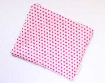 zippered pouch, clutch, wallet, polka dot pouch, purse organizer, bridesmaids gift, id pouch, pouch