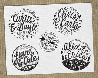 DIGITAL FILE for Custom Wedding Stamp