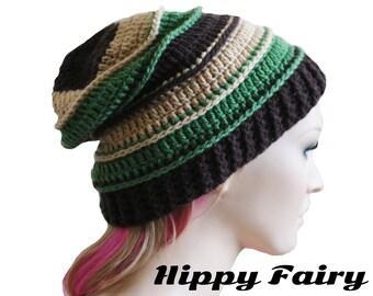 Hippie beanie, patchwork hippie, slouch beanie, Unique beanie , patchwork beanie, womans crochet hat,Slouchy beanie Womans slouch beanie