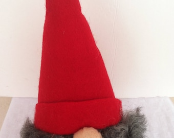 Christmas Santa Scandinavian Tomte in red and gray