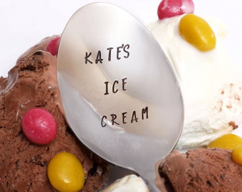 Custom Ice Cream Spoon, Ice Cream Spoon, Personalized Ice Cream Spoon, Unique Gift, Birthday Gift