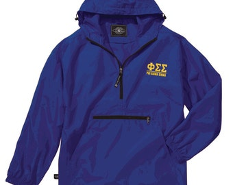 Phi Sigma Sigma Pack-N-Go Pullover (light gold embroidery)