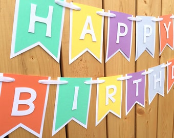 custom happy birthday banner, banner, birthday banner, happy birthday banner, girl birthday, girl birthday banner, first birthday